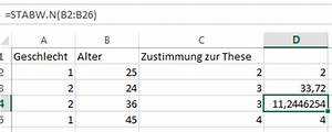 Standardabweichung Excel Berechnen : traue keiner excel statistik der tabellen experte ~ Themetempest.com Abrechnung
