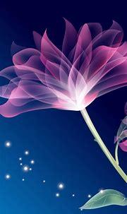 Free download 3d purple flowers wallpapers55com Best ...