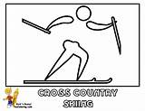 Coloring Sports Country Skiing Winter Pages Cross Yescoloring Curling Olympic Freeze sketch template