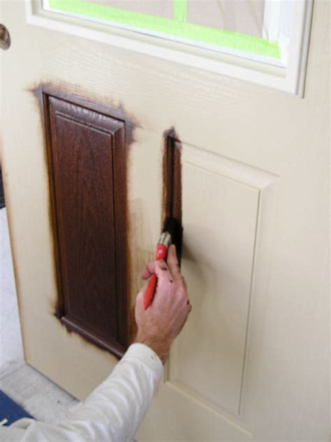 staining  fiberglass door  practical house painting