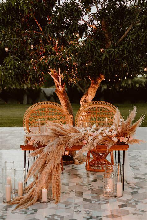 pampas grass wedding decor wedding party ideas