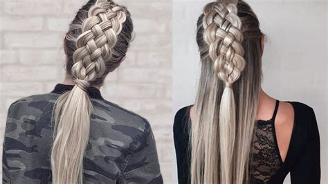 Five (5) Strand Dutch Braid   How to DIY   hairstyle in