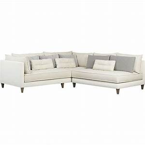 white 2 piece armless sectional sofa With armless sectional sofa pieces