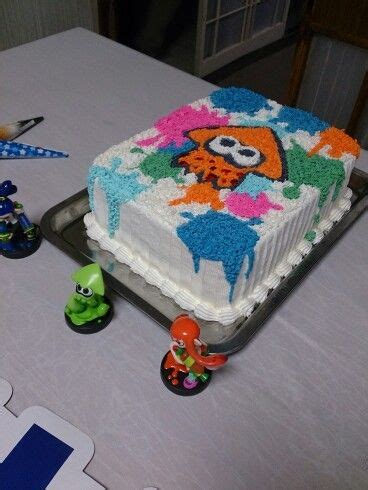splatoon cake birthday cake bolo decorado kaidens