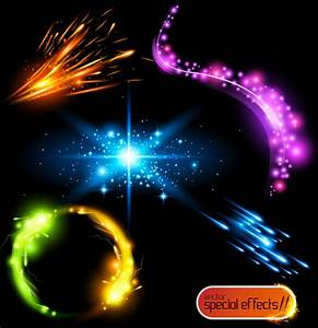 Colored glowing light effects vector Free vector in Adobe