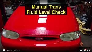 Manual Transmission Fluid Level Check  1997 Ford Aspire