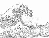 Coloring Ocean Pages Adults Water Waves Wave Colouring Printable Adult Hokusai Sheets Bestcoloringpagesforkids Books Van Kleurplaten Advanced Line Freecoloringpages sketch template