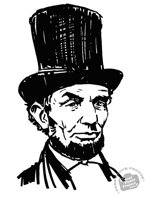 abraham lincoln with hat drawing abraham lincoln free stock illustration u s president