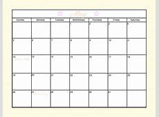 Customizable Monthly Calendar Templates 2016 Calendar