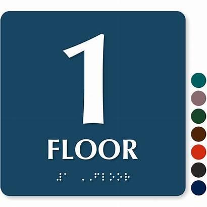Floor Number Braille Signs Sign Custom Mydoorsign
