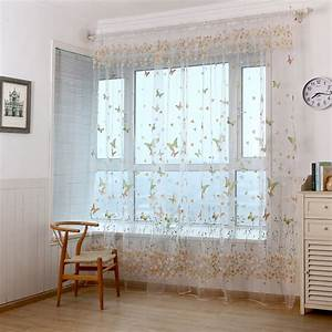new arrival butterfly curtain yarn custom made finished With voilage porte fenetre