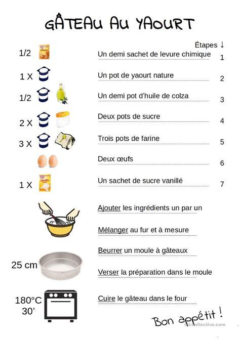 recette cuisine russe recette du gâteau au yaourt fiche d 39 exercices fiches