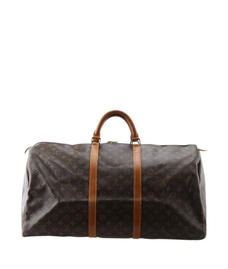 louis vuitton brown duffle bag keepall   monogram