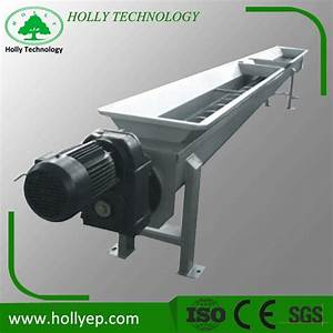 China Shaftless Screw Auger Conveyor For Wastewater