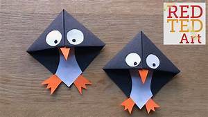 Easy Paper Penguin Corner Bookmark Crafts - YouTube