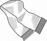 Winter Colouring Scarf Sheet Glove Clothing sketch template