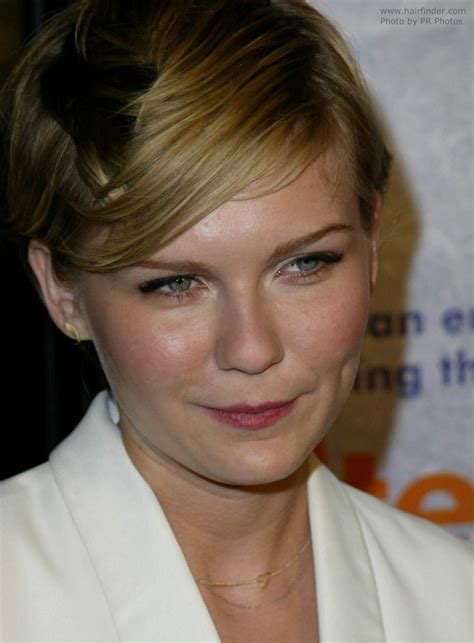 kirsten dunst sporting  sophisticated short haircut  pixie