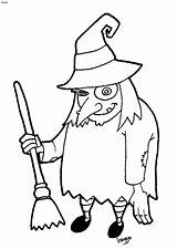 Halloween Witch Cartoon Clipart Witches Clip Coloring Cliparts Pages Library sketch template