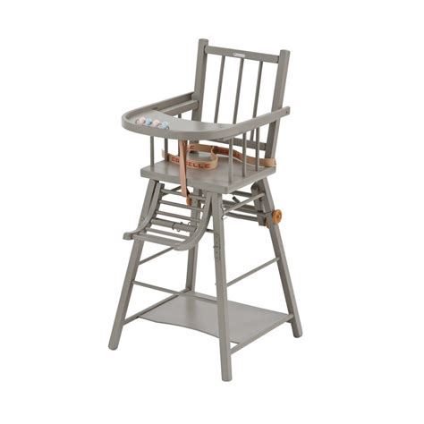sangle chaise haute chaise haute transformable marcel laqué gris clair