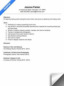 beginner makeup artist resume sample With how to write a resume for beginners