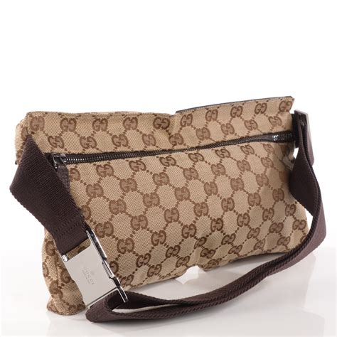 gucci monogram belt bag dark brown