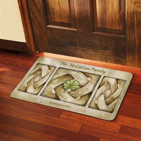celtic doormat personalized celtic knot doormat walmart