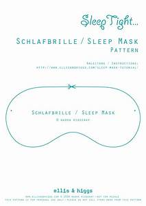 schlafbrille sleep mask tutorial i made a little With eye mask invitation template
