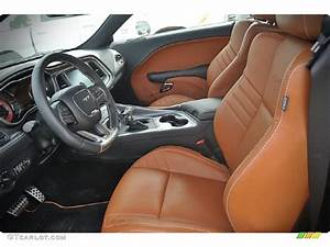 Black/Sepia Interior 2015 Dodge Challenger SRT Hellcat ...