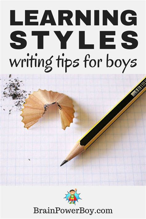 get boys writing learning styles writing tips for boys
