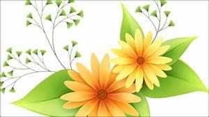 Hermosa flor pequeña vector material 1