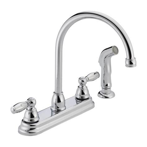 kitchen faucet plumbing 2 handle proflo kitchen faucet