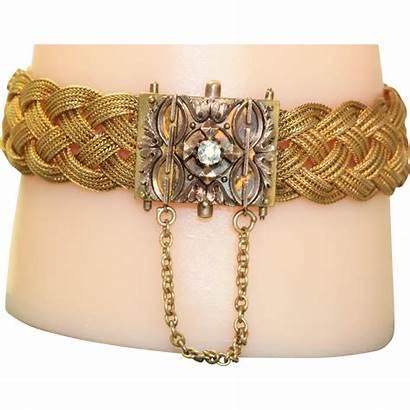 Victorian Braided Diamond Bracelet Estate