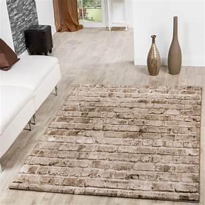 teppich torino stone optik grau wohnzimmer teppich braun With balkon teppich mit stein muster tapete