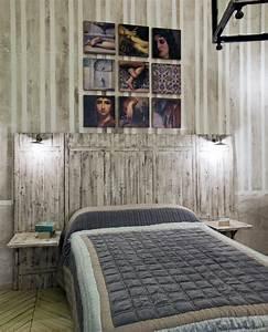 Tete De Lit Bois 180 : t te lit campagne couch 180 tryptique mel ze patin provence et fils ~ Teatrodelosmanantiales.com Idées de Décoration