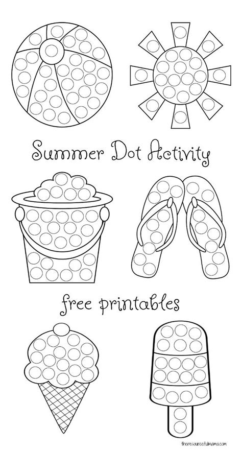 summer dot activity  printables  images