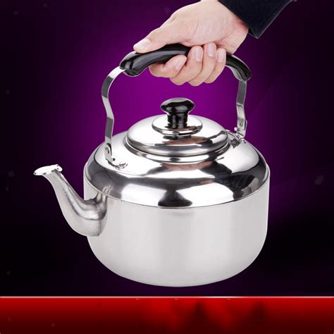kettle stove tea kitchen stainless steel whistling gas 6l induction camping electric stovetop handle hob teapot adjustable 4l 5l coffee