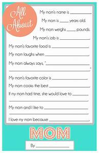 Mother's Day Questionnaire {A FREE Printable for the Kids ...