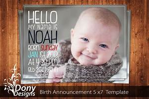 Buy 1 get 1 free birth announcement neutral baby for Baby birth announcements templates for free