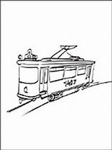 Coloring Streetcar Pages Vehicles Printable sketch template