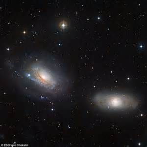 The galaxies that are so close, they play havoc with each ...