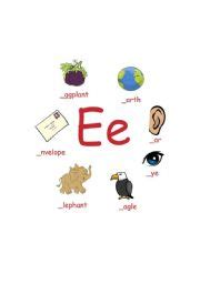 things that start with the letter e teaching worksheets the alphabet 30321