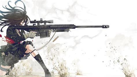 full hd wallpaper sniper rifle spray long hair desktop