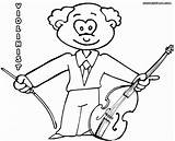 Violin Coloring Pages Fiddle Print Colour String Colorings sketch template