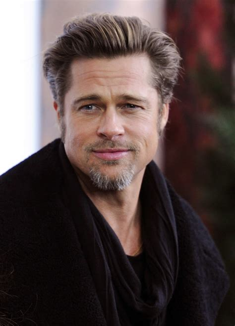 December The Brush Back Brad Pitt His Hair