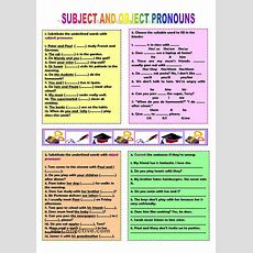 Subject And Object Pronouns  Pronouns  Pinterest  Printables, Worksheets And Studentcentered