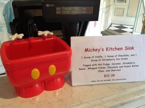 kitchen sink disneyland walt disney world mickey s kitchen sink sundae disney