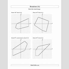 17 Best Images Of Rotation Math Worksheets  Geometry Rotations Worksheet, Geometry Rotations