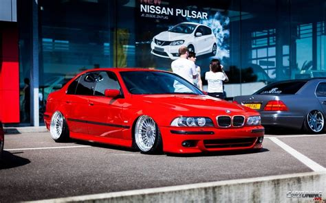 bmw stanced red and stanced bmw 5 e39