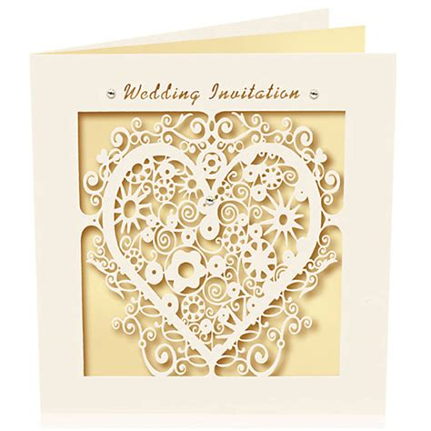 laser cut wedding invitations pack of six laser cut wedding invitations by pink