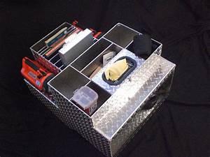 Hand Crafted Aluminum Checkerplate Firetruck Cab Organizer
